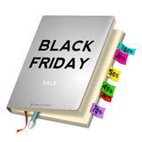 Black friday sale background with planning Stock Photography