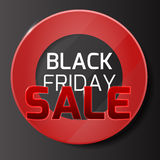 Black friday sale background with red glass and circle range Stock Image