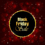 Black Friday Sale background with snowflakes Stock Image