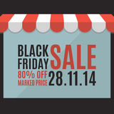 Black friday sale background. Store concept Stock Images