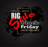 Colored brush black sale 01a Royalty Free Stock Images