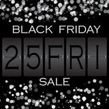 Black friday sale background.  white lights bokeh . Vector illustration Stock Photography