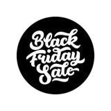 Black Friday Sale Lettering Badge Stock Images