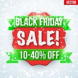 Black Friday Sale badge and label Royalty Free Stock Photography