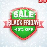 Black Friday Sale badge and label Stock Photography