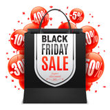 Black Friday Sale Bag Stock Photos