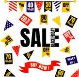 Black Friday Sale bakgrund Royaltyfri Fotografi