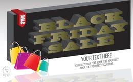 Black Friday Sale bakgrund Arkivfoton