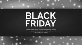 Black Friday Sale bakgrund Svart bokehbakgrund för vita ljus också vektor för coreldrawillustration Fotografering för Bildbyråer