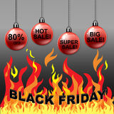 Black Friday sale balls Royalty Free Stock Images