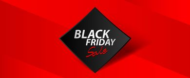 Black friday sale banner, Ads, header banner, gift voucher, Discount card, promotion poster, advertisement, marketing, tags. Sticker, vector for business Royalty Free Stock Photo