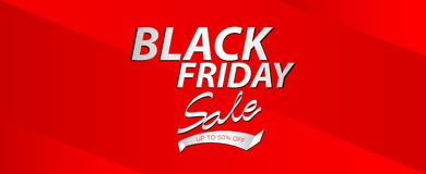 Black friday sale banner, Ads, header banner, gift voucher, Discount card, promotion poster, advertisement, marketing, tags. Sticker, brochure, flyer vector Royalty Free Stock Photography