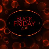 Black friday sale banner on a black background with luminous circles vector illustration royalty free illustration