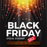 Black Friday Sale Banner Background for Special Deal Promotion Stock Photo
