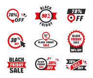 Black Friday Sale Banner. S, sale stickers Royalty Free Stock Images