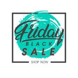 Black friday sale banner. Special offer on brush stroke background. Brochure template perfect for prints, flyers, banners, promotion, special offer, ads,web Royalty Free Stock Photo