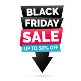 Black Friday sale banner, Black, pink and blue colors Stock Photos