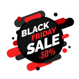 Black Friday sale banner, Black and red colors Royalty Free Stock Photo