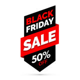 Black Friday sale banner, Black and red colors Royalty Free Stock Photography
