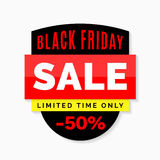 Black Friday sale banner, Black, red and yellow colors Royalty Free Stock Image
