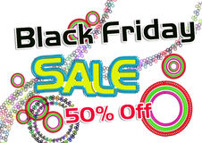 Black Friday Sale. Banner for Commercial Use royalty free illustration