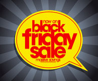 Black friday sale banner concept with vibrant speech bubble sign Stock Photo