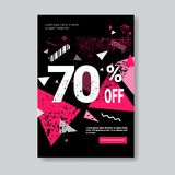 Black Friday Sale Banner With Copy Space Pink Template Poster Grunge Design Shopping Discount Concept Stock Image