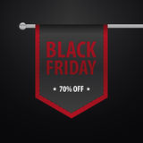 Black friday sale banner design over a black background Royalty Free Stock Photos