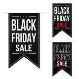 Black friday sale banner design set Stock Photo