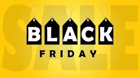 Black friday Sale Banner. Black Friday Design Template for Banner, Flyer. Vector Illustration. royalty free illustration