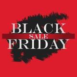 Black friday Sale Banner. Black Friday Design Template for Banner, Flyer. Vector Illustration. stock illustration