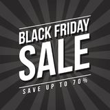 Black Friday sale banner design Royalty Free Stock Images