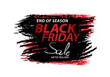 Black friday sale banner, Discount, promotion poster, advertisement, marketing, tags, sticker, brochure, leaflet. Black friday sale banner, Discount, promotion Royalty Free Stock Photos