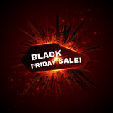 Black friday sale banner with explode on Royalty Free Stock Photo