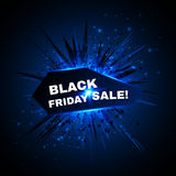 Black friday sale banner with explode on Royalty Free Stock Images