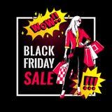 Black Friday sale banner. Stock Images