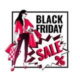 Black Friday sale banner. Stock Photo
