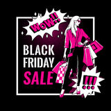 Black Friday sale banner. Royalty Free Stock Photo