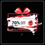 Black Friday Sale Banner Grunge Background Design Shopping Discount Poster Stock Photos
