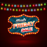 Black Friday sale banner with light color Stock Images