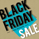 Black friday sale banner on patterned background, vector Royalty Free Stock Image