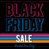 Black friday sale banner on patterned background, vector Royalty Free Stock Photography