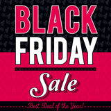 Black friday sale banner on patterned background, vector royalty free stock photos