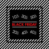 Black Friday sale banner. 10,20,30,40,50,60 percent price off sale. Vector illustration. Black Friday sale banner. price off sale. Vector illustration stock illustration