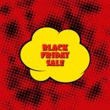 Black Friday Sale Banner. Pop Art Stock Photography