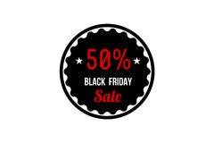 Black Friday Sale Banner. Promotional Discount Label. Stock Photos
