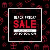 Black friday sale banner. Promotional template. Black friday sale banner. Vector promotional template Royalty Free Stock Photos