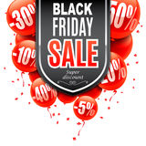 Black Friday Sale Banner. With red air balloons Royalty Free Stock Image
