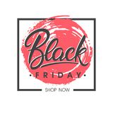 Black friday sale banner. Special offer on brush stroke background. Brochure template perfect for prints, flyers, banners, promotion, special offer, ads,web Stock Photos