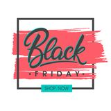 Black friday sale banner. Special offer on brush stroke background. Brochure template perfect for prints, flyers, banners, promotion, special offer, ads,web Royalty Free Stock Images